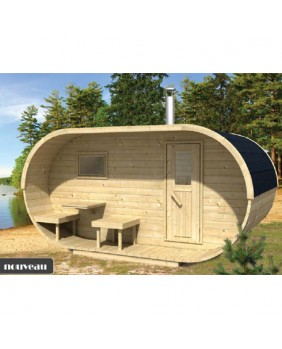 Sauna Oval (Thermowood)